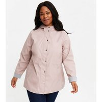 Curves Pale Pink Hooded Anorak New Look