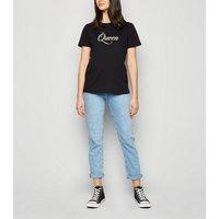 Black Short Sleeve Queen Slogan T-Shirt New Look
