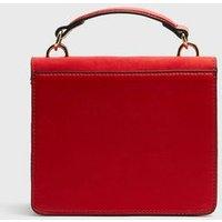 Red Circle Front Mini Shoulder Bag New Look Vegan