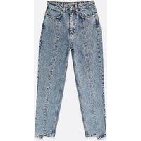 Blue Seam High Waist Tori Mom Jeans New Look