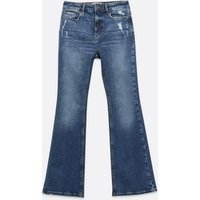 Petite Blue High Waist Brooke Flared Jeans New Look