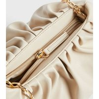 Off White Pouch Chain Shoulder Bag New Look Vegan