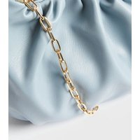 Pale Blue Pouch Chain Shoulder Bag New Look Vegan