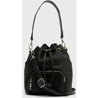 Black Mini Bucket Bag New Look
