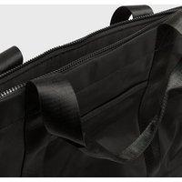 Black Pocket Front Sports Shopper Bag New Look