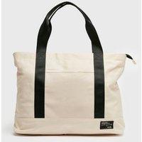 Cream Pocket Front Sports Shopper Bag New Look Vegan