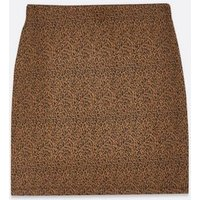 Brown Leopard Print Ruched Mini Skirt New Look
