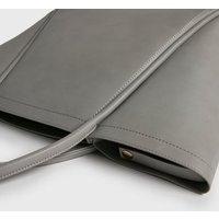 Pale Grey Tote Bag New Look