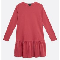 Deep Pink Jersey Drop Hem Smock Mini Dress New Look