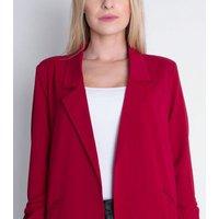 Cutie London Red Tie Sleeve Blazer New Look