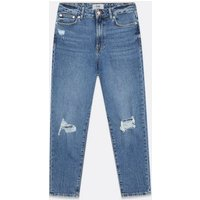 Blue Ripped 90s Baggy Fit Jeans New Look