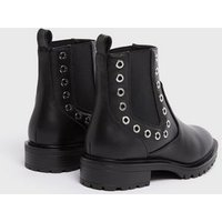 ONLY Black Eyelet Chunky Chelsea Boots New Look