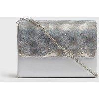 Girls Silver Diamanté Chain Strap Shoulder Bag New Look