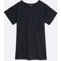 Curves Black Gem Embellished T-Shirt New Look