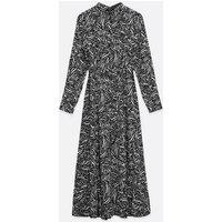 Tall Black Animal Print Maxi Shirt Dress New Look