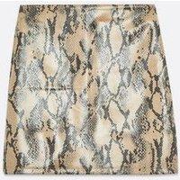 Pink-Vanilla-Brown-Faux-Snake-Mini-Skirt-New-Look