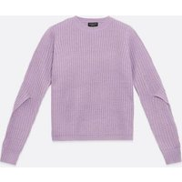 Sunshine Soul Lilac Open Sleeve Jumper New Look