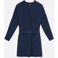 Maternity Navy Belted Tunic Dress New Look