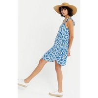 White Floral Cheesecloth Swing Beach Dress New Look