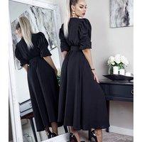 Missfiga-Black-Puff-Sleeve-Belted-Maxi-Dress-New-Look
