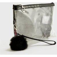 Pink Vanilla Black Sequin Makeup Bag New Look