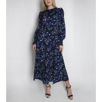 Cutie London Blue Paisley Long Sleeve Maxi Dress New Look