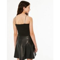 Girls Black Square Neck Cami New Look