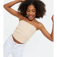 Girls Pale Pink Square Neck Cami New Look