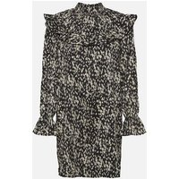 Vero Moda Curves Black Animal Print Frill Dress New Look