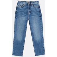 Petite Blue Ankle Grazing Hannah Straight Leg Jeans New Look