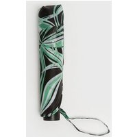 Black Tropical Floral Print Umbrella New Look