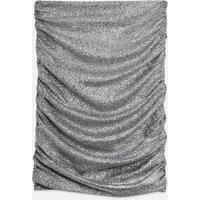 Pink Vanilla Silver Metallic Ruched Mini Skirt New Look