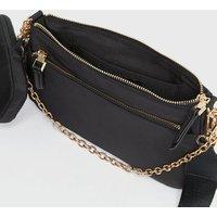 Black Chain Cross Body Bag New Look