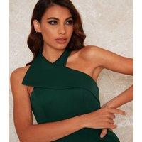 Chi Chi London Green Halterneck Maxi Dress New Look