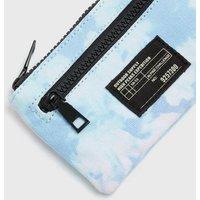 Girls Blue Tie Dye Tab Front Purse New Look