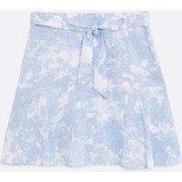 Girls Blue Tie Dye Skort New Look