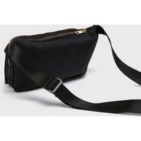 Black Canvas Bum Bag New Look