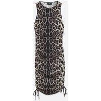 AX-Paris-Light-Grey-Leopard-Print-Ruched-Mini-Dress-New-Look