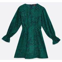 AX-Paris-Teal-Mixed-Animal-Print-Mini-Dress-New-Look