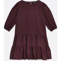 AX-Paris-Dark-Purple-Tiered-Hem-Swing-Dress-New-Look
