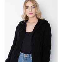 JUSTYOUROUTFIT-Black-Cable-Knit-Hooded-Cardigan-New-Look