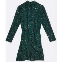 AX-Paris-Teal-Leopard-Print-Metallic-Ruched-Dress-New-Look