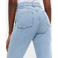 Tall Pale Blue Waist Enhance Tori Mom Jeans New Look