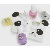 Multicoloured Panda Nail Set New Look