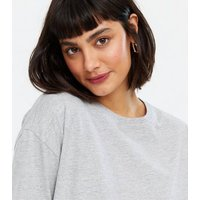 Pale Grey Oversized T-Shirt New Look