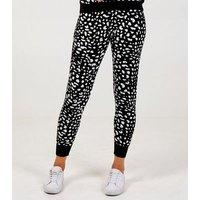 Pink Vanilla Black Leopard Print Knit Leggings New Look