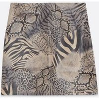 Pink Vanilla Brown Leather-Look Animal Print Skirt New Look