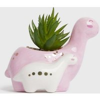 Pale Pink Double Dinosaur Planter New Look