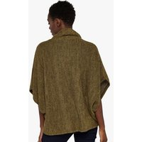 Apricot Mustard Waffle Knit Cape Sleeve Top New Look