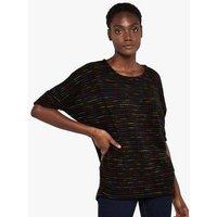 Apricot Black Knit Spot Oversized Top New Look